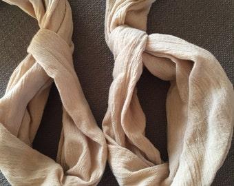 Taupe Linen Cross Body Yoga Mat Strap