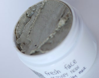 fresh face DETOXIFY NOW 100% calcium bentonite clay mask 2 oz