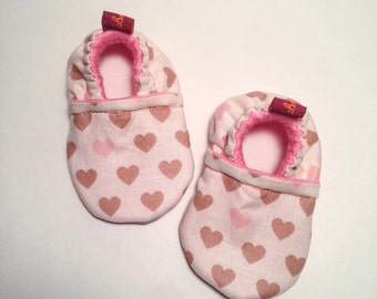 Baby booties, Crib Shoes - Happy Flowers