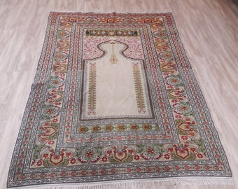 "Turkish Handwoven Rug,4'3""×5'9feet,132×180cm,Decorative Turkish Traditional Anatolian Kilim Rug,"