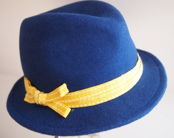 Felt Hat blue-yellow