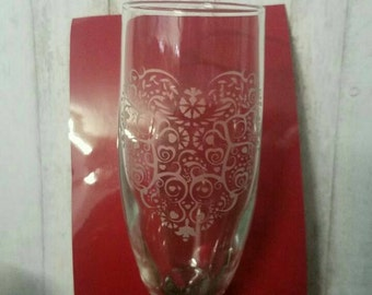 Custom Etched Champagne Flutes