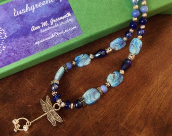 Dragonfly Blues 18-inch Necklace