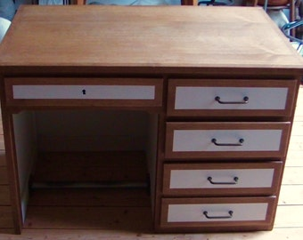 Desk drawers and Cabinet in oak 50s