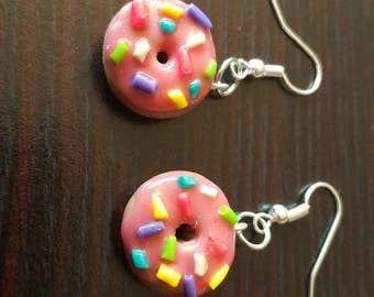 Pink Donut Earrings