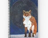 Lunar Kitsune - Spiral Notebook, Fox Notebook, Fox Stationery, Fox Lover Gift, Art Notebook, Art Journal, Diary Book, Art Planner, School