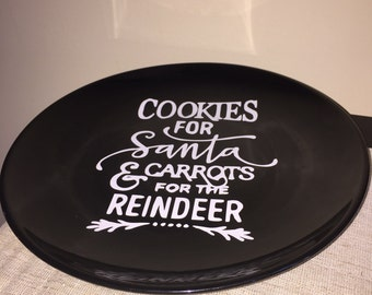 Cookies for Santa 10inch plate