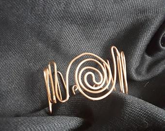 Copper Swirl Cuff Bracelet
