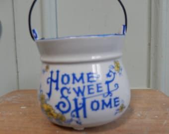 Home Sweet Home Money Box, Savings Pot, Piggy Bank,Coin Holder, 1970s Money Box, Ceramic