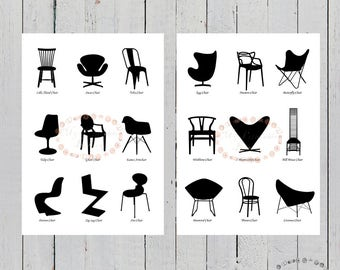 Pack slices famous chairs, sheets chairs, sheets Duvet, famous chairs, sheets A4, A3 sheets, decoration