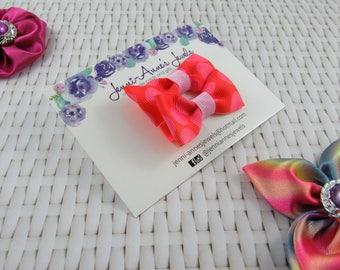 Bow Tie Hair Clip - Set of 2 - Polka Dot