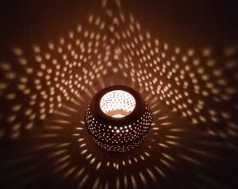 Handmade copper candle - great