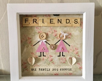 Friends, Friends Gift, Personalised Frame