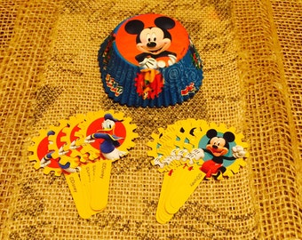 Mickey Mouse Club House Cupcake Liners and Picks