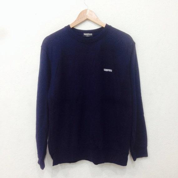 Rare!! VANSPORT Sweatshirt Crewneck Small Logo Spellout Black Colour