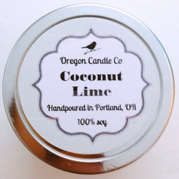 Coconut Lime  >> 2 oz soy candle