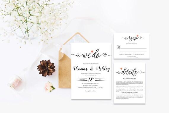 Elegant wedding invite_10,Printable Wedding Invitation Suite,Wedding Invite Set,Wedding Printable,Calligraphy