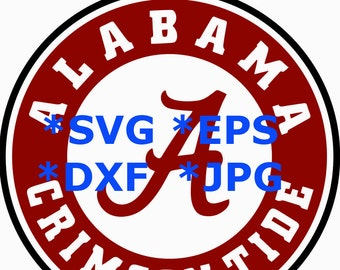 TODAY SALE 20% Alabama Crimson Tide SVG - Alabama Crimson Tide logo svg  Eps, Dxf,  Jpeg Format for Cricut and Silhouette, Digital download