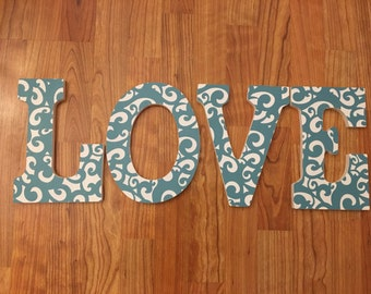 LOVE Wood Letters