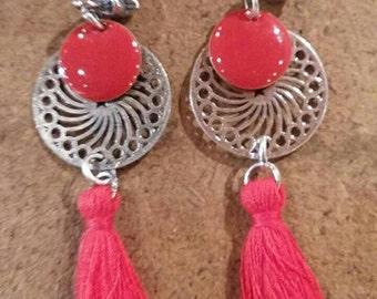 Alexia fushia earrings