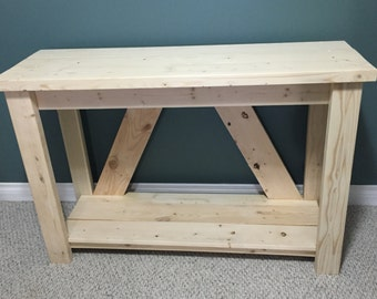 Beautiful Rustic Canadian Made Side/Buffet Table