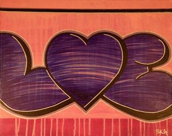 LOVE PINK 16x20