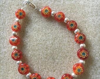 Red Patterned bracelet
