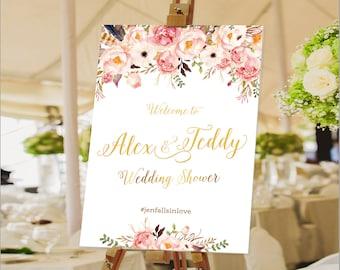 Bridal Tea Sign, Bridal Shower Welcome Sign, Wedding Shower sign, Bridal Shower decoration, PRINTABLE Welcome sign - US_BSb1
