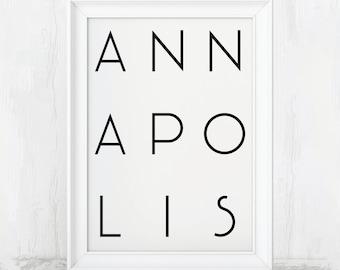 Annapolis Art, Annapolis Prints, Annapolis Wall Decor, Annapolis City Art, Annapolis City, Annapolis Wall Art, Annapolis Decor, Annapolis