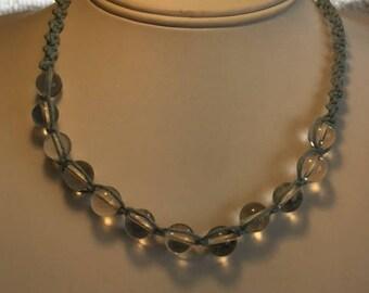 Clear Quartz Bead Necklace