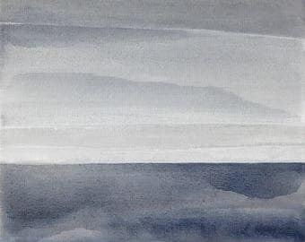 THE GREY ESCAPE - Horizon Collection, Original Artwork on Canvas by Sandra Shebitz, Swea Gallery