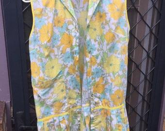 Retro 70's Button Up Dress