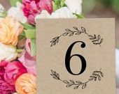 Wedding Table Numbers  Printable Table Numbers  Rustic Wedding Numbers  Kraft  Wedding Table Card   Seating Table Cards WDH0249