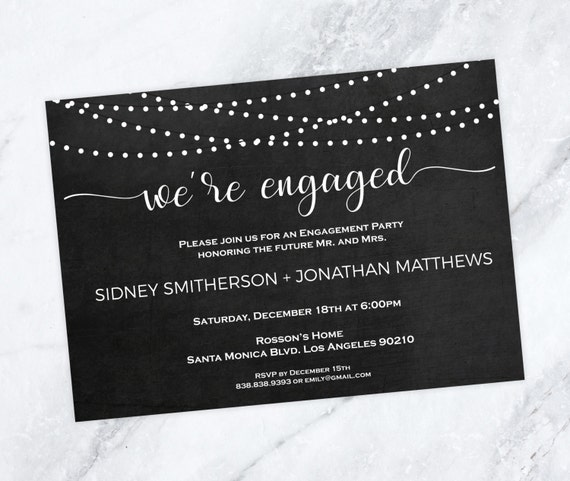 Engagement Party Invitation - Wedding Invitation - Engagement Dinner - Wedding Printable - Editable - Downloadable Wedding #WDH0216