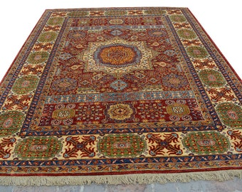 High Quality hand knotted Mamlook kazak rug 100% wool