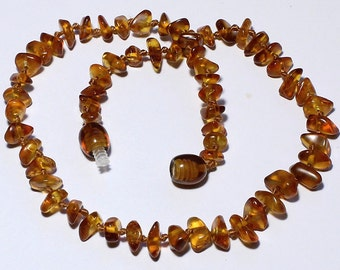 Genuine Baltic amber baby necklace N5465