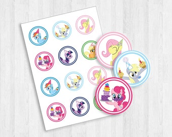 Printable My Little Pony Cupcake Topper | My Little Pony | Birthday Party | Cupcake Topper | Print at Home | MLP |