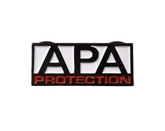 Vintage APA Protection wrestling lapel pin - WWE, Faarooq, Bradshaw