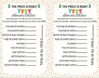 Baby Shower Game Price Is Right