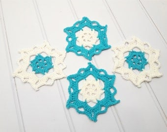 Snowflake coasters, unique coaster set, Christmas coasters, made-to-order, kitchen decor, winter housewarming gift