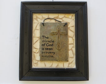 Miracle of God Cross Tile Art Picture