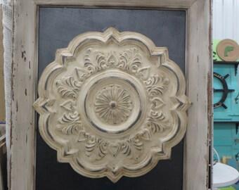 Framed Medallion Shabby Chic Wall Decor