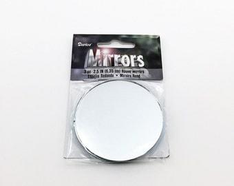 Darice round mirrors, 2.5 inch, 3 pieces