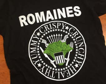 Romaines Shirt, a vegan inspired iconic punk band t-shirt (Woman's)