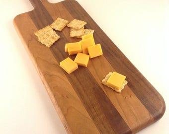 Walnut and Cherry Cheese Board, Cutting Board, Serving Board
