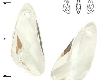 Swarovski Elements, 6690, Wing Crystal 23mm, Swarovski Wing, Swarovski crystal, white crystal, clear crystal