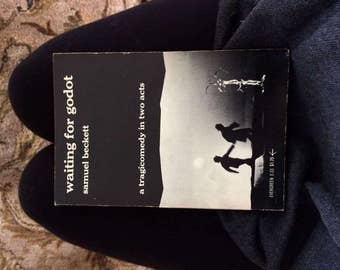 SOLD- Vintage play famous Waiting for Godot by Samuel Beckett, rare FIRST EDITION 1954, Beckett's own translation to English from the French