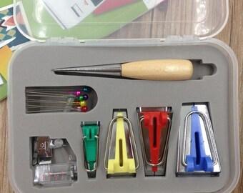 Mini Machine Tools Binding Sew Multifunction Sewing Bias Tape Maker Set DIY Patchwork Quilting Tool