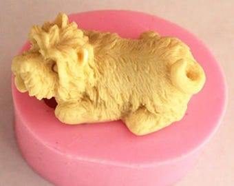 3D mini dog soap mold fondant cake decorating silicone mold baking cooking