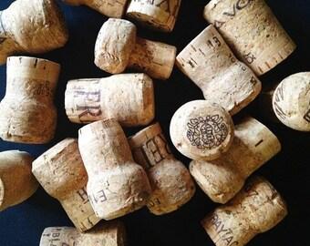 100 Used Champagne Corks, Used Champagne Corks, 100% champagne cork
